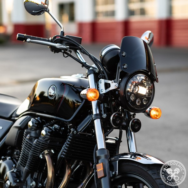 CB1100 LED Headlight - Short Flyscreen