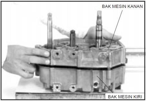 6 belah crankcase