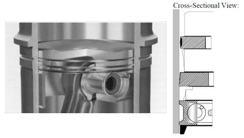 4 piston cross section