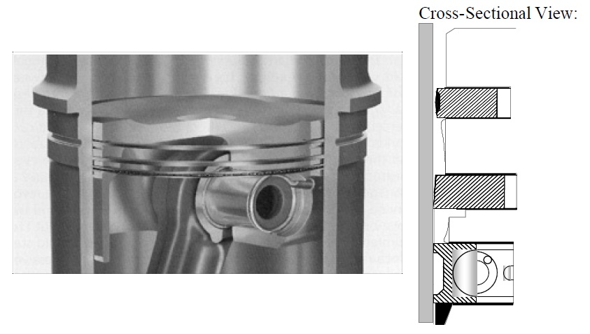 4 piston cross section
