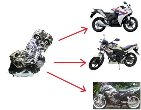 diferensiasi cbr150 engine
