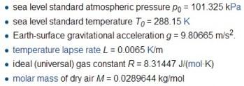 international standart atmosphere
