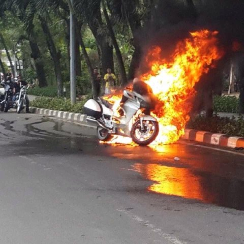 motorbike burn out