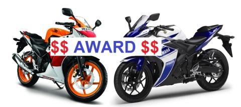 cbr150 n r25 award