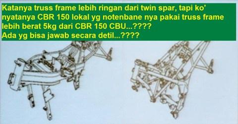 sasis cbr150 old vs cb150r berat