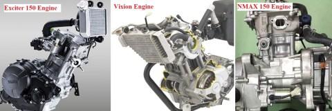 yamaha engine cooled