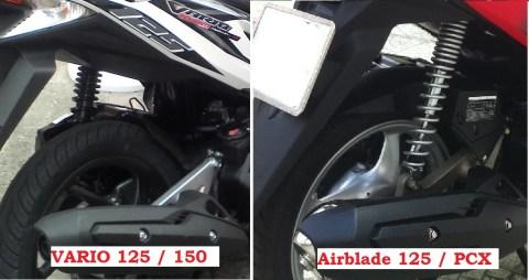 Rear Shockabsorber Vario n Airblade