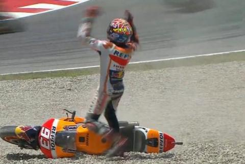 marquez-crash-at-catalunya 2015