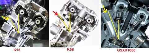 intake k15 k56 gsxr1000 angle