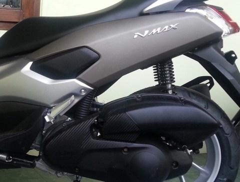 nmax gun metal sok belakang