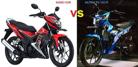 sonic150r vs satria fu fi