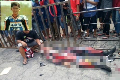 kecelakaan roadrace sidoarjo