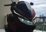 pcx 150 18 headlamp red on s