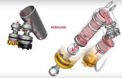 double tube shock absorber rebound