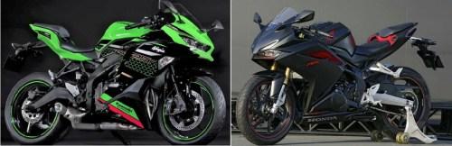 Kawasaki-Ninja-ZX-25R VS CBR 250 RR 40HP Battle-motogokil