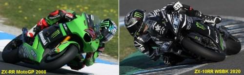 kawasaki motogp 2008 vs wsbk 2020