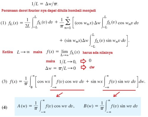 integral fourier formula