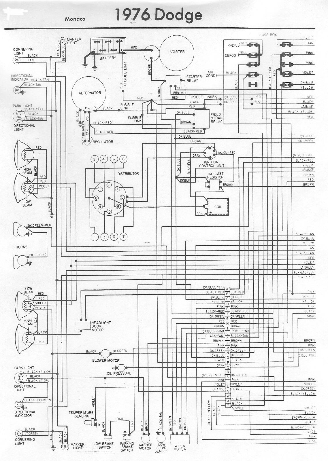 1977 dodge truck electrical schematics wiring diagram data 1986 Dodge Truck Wiring Diagram