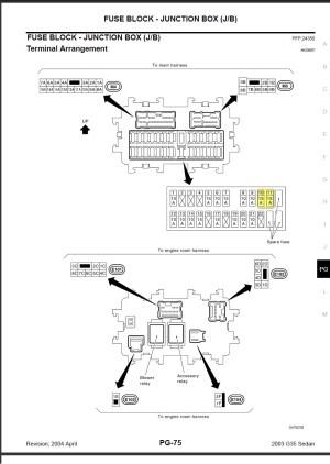 2006 Infiniti M35 Fuse Box Location 2006 Infiniti G35x