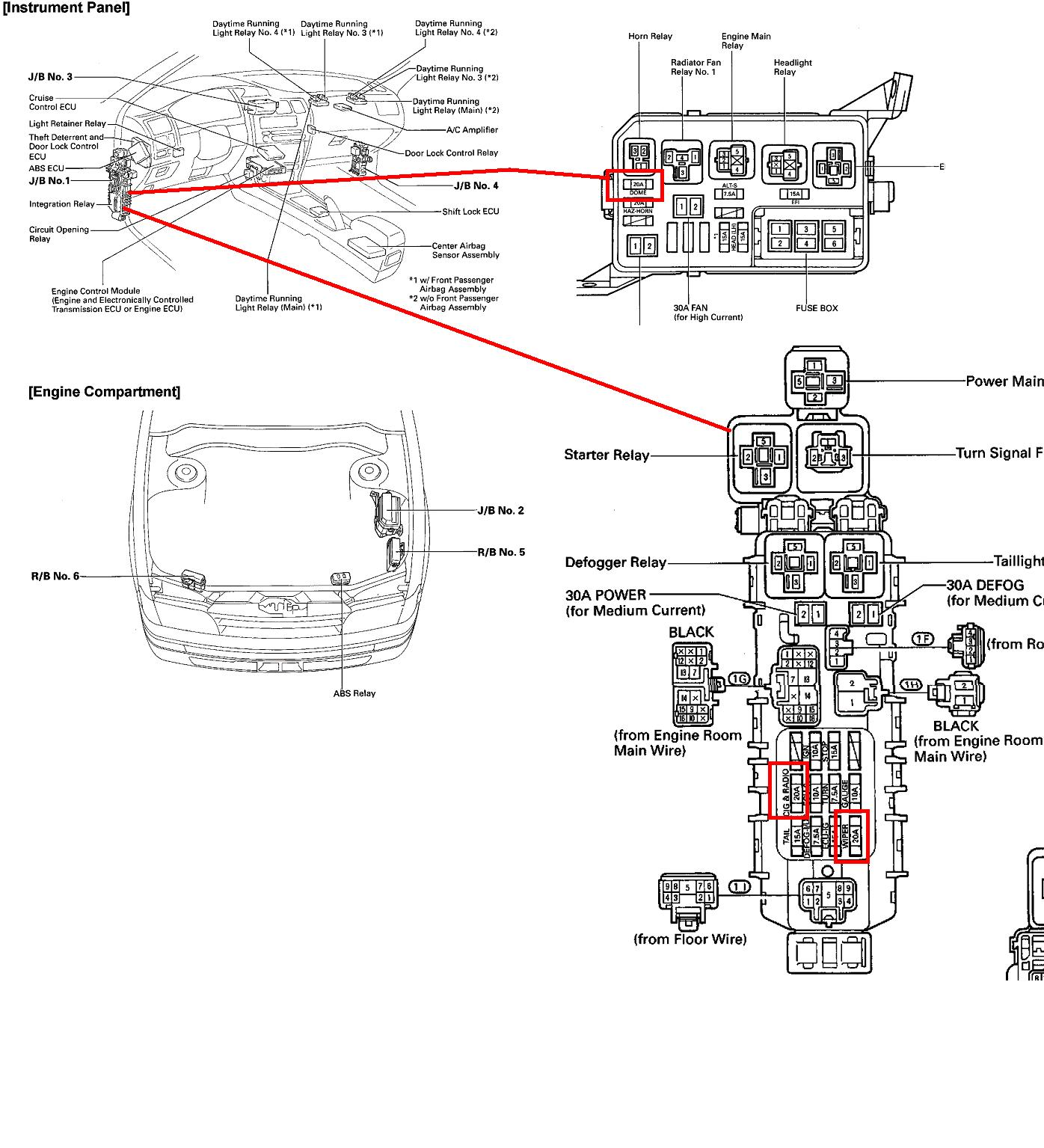 93F0 Toyota Previa Fuse Box Diagram | Wiring Resources
