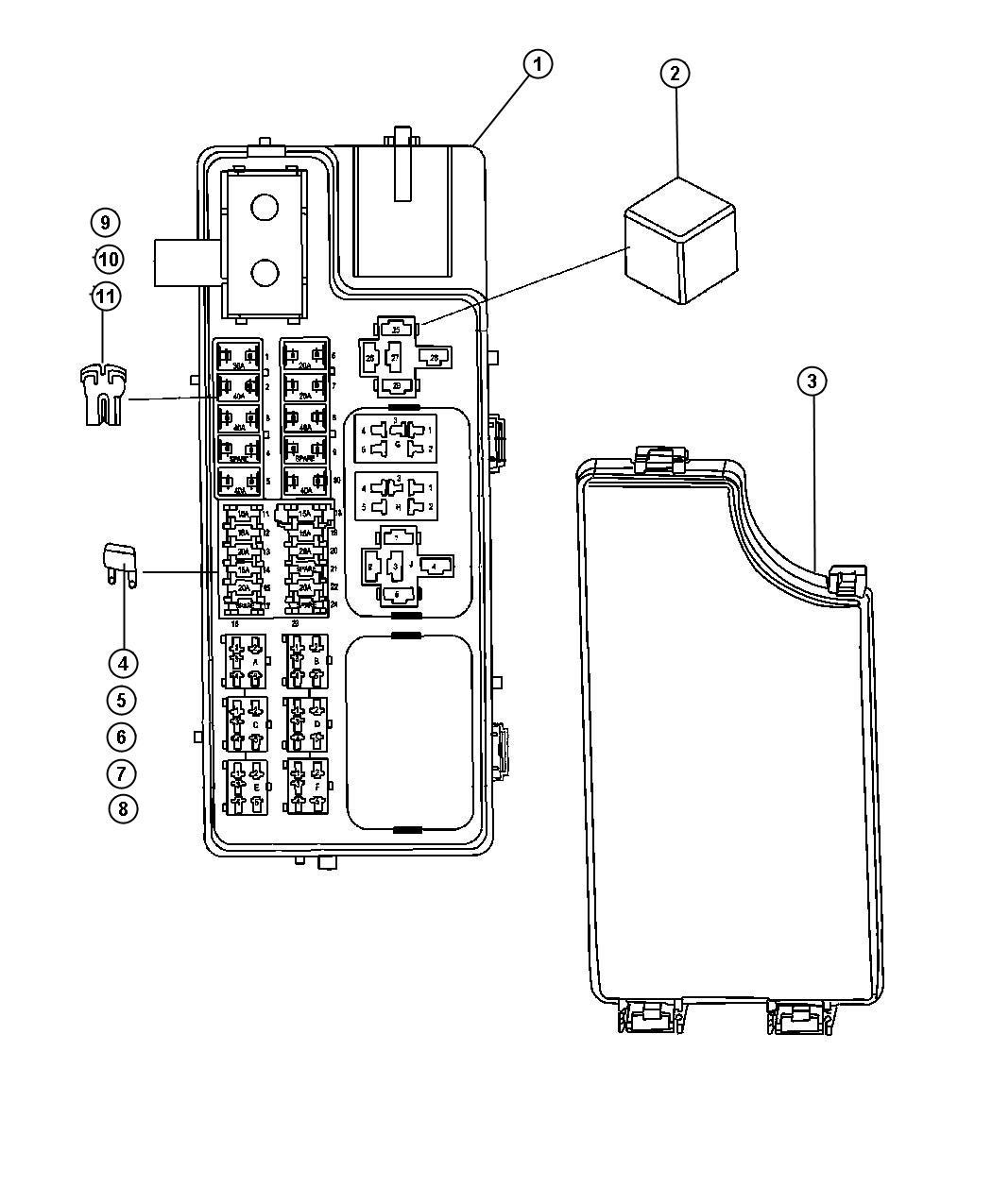 2010 Jeep Comp Fuse Box Wiring Diagram Forward