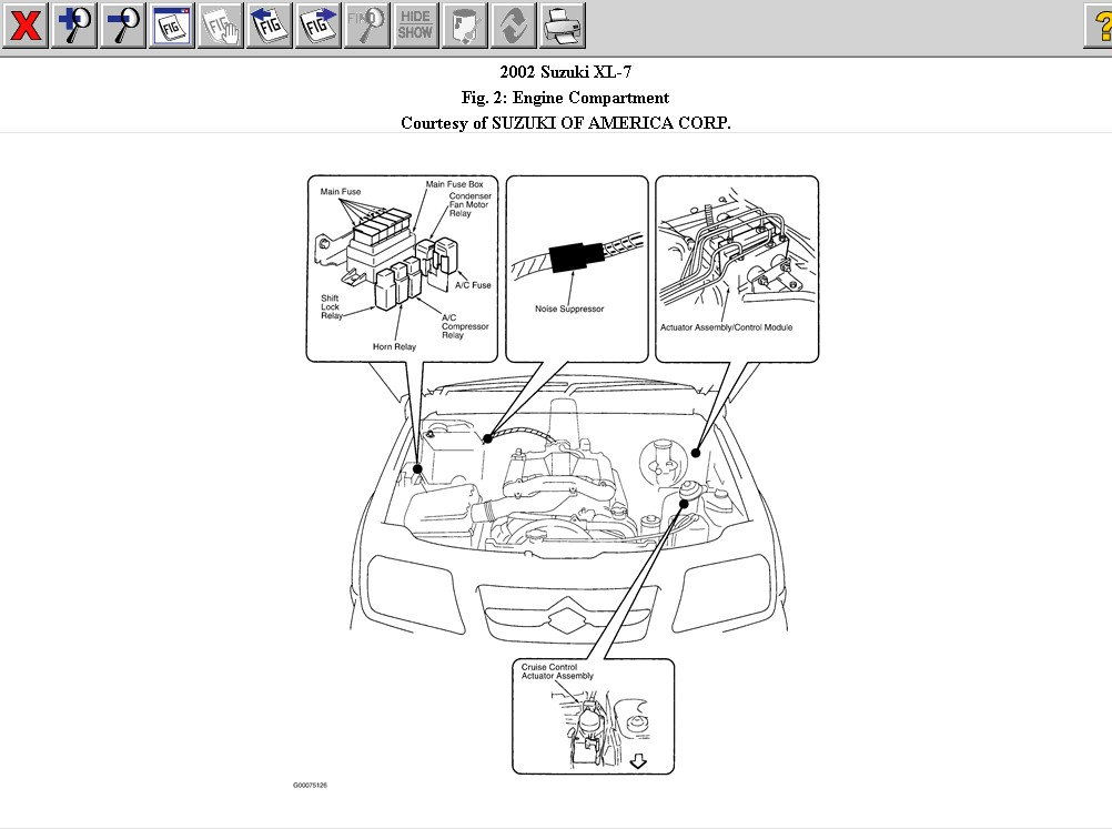 suzuki xl7 rear brake diagram