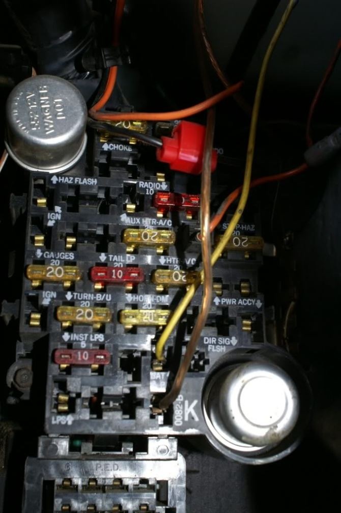1984 chevy c10 fuse box  1965 ford mustang alternator