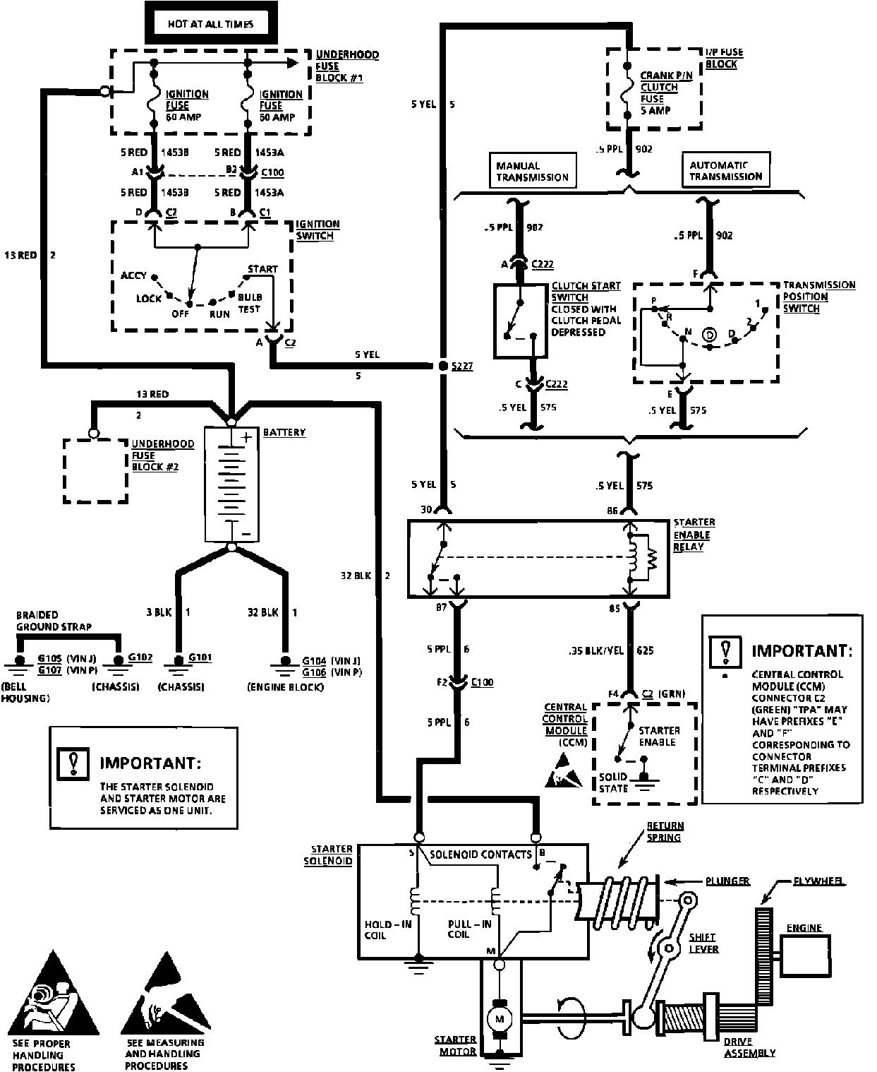 Electric starter wiring diagram