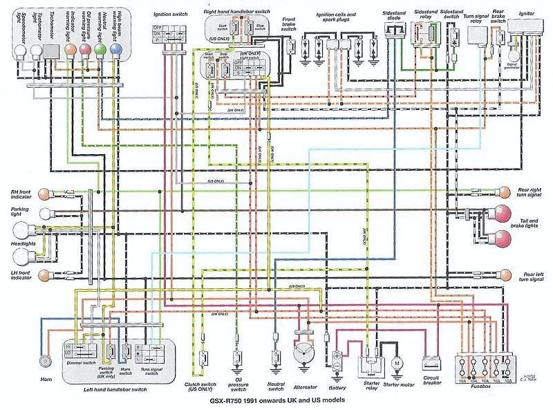 Suzuki 600 Wiring Diagram - Info Wiring •