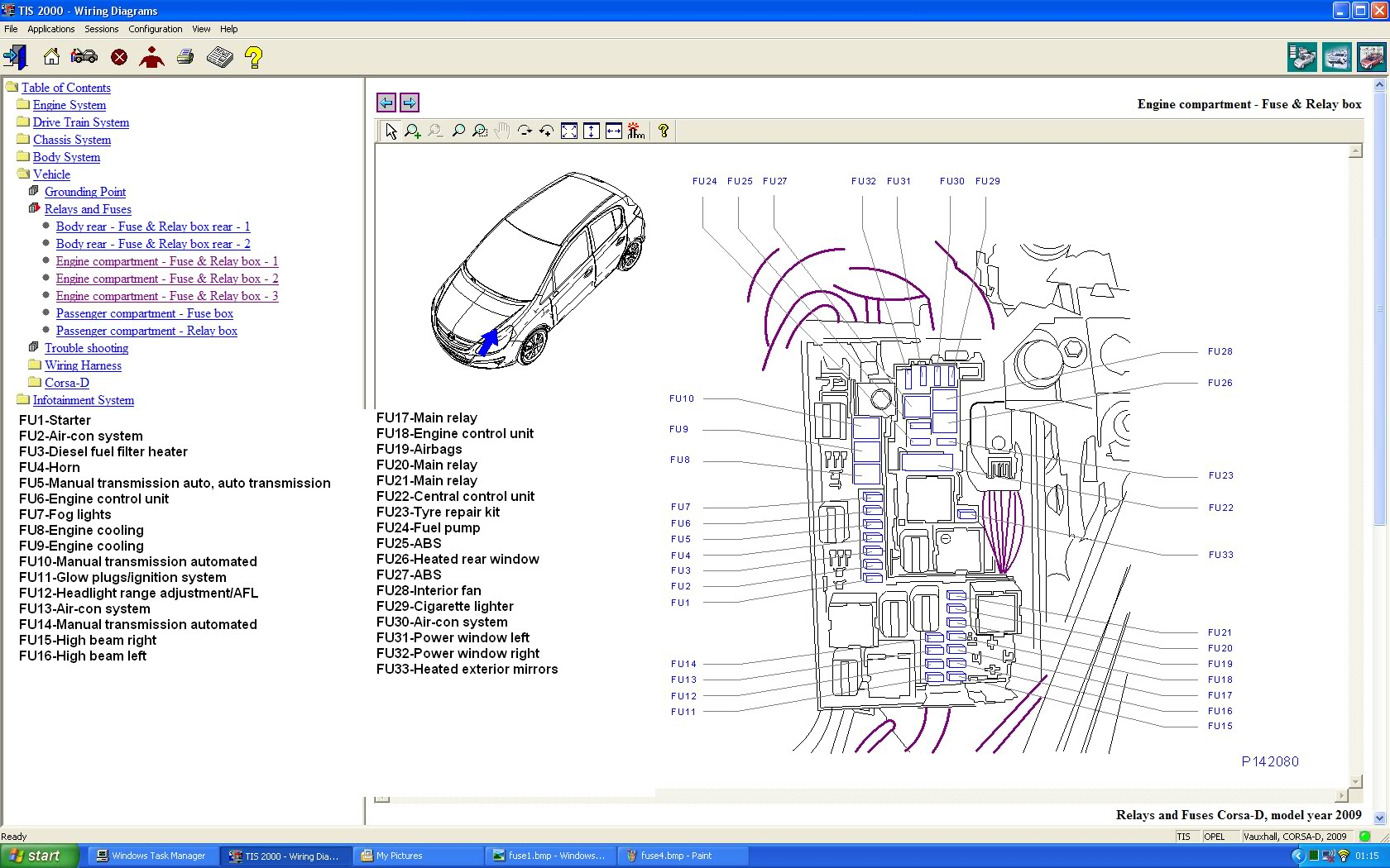 Opel Vectra B Wiring Diagram