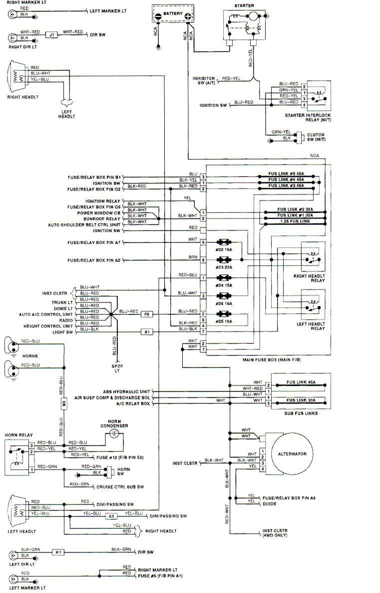 Subaru Impreza Wiring Diagram Battery From 2008 Schematics Tribeca Diagrams Legacy Headlight Harness 1995 99 2000 Radio
