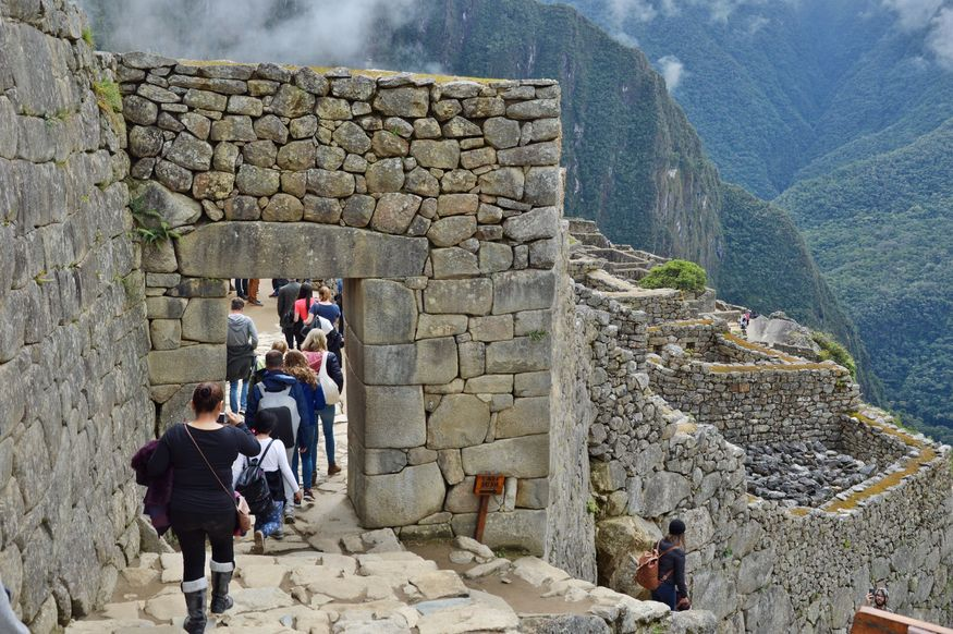 Главный вход в город инков мачу пикча