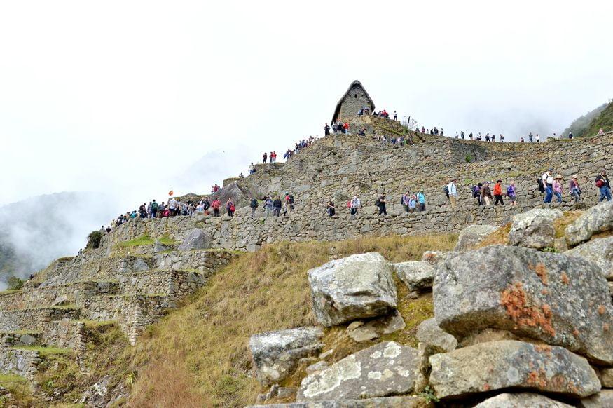 Вид на террасы Мачу-Пикчу со стороны каменоломни
