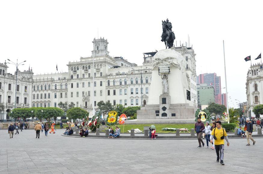 Площадь Сан-Мартин в Лиме