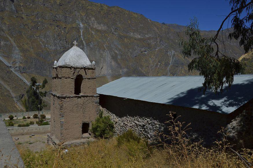 Традиционная архитектура в каньоне колка перу