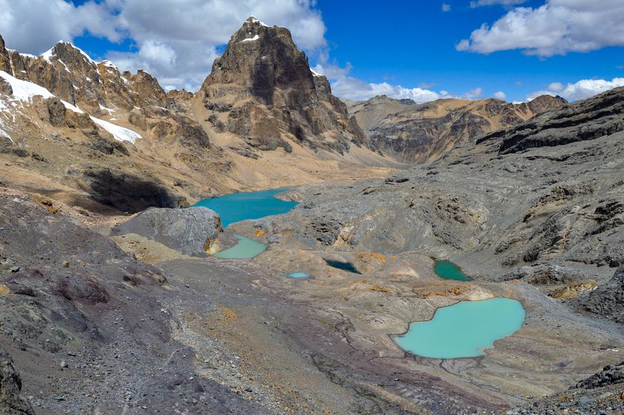 Панорама с перевала Trapecio Перу Huaraz