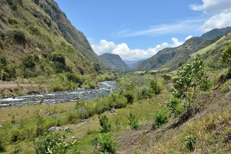 Река на севере Эквадора