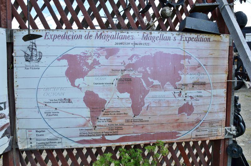 Карта путешествия Магеллана