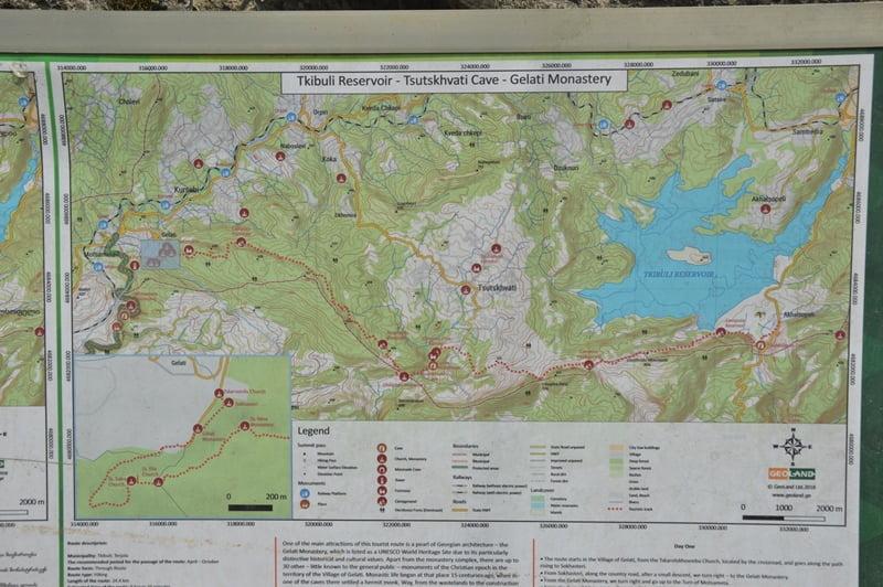 Карта похода Гелати Ткибулт