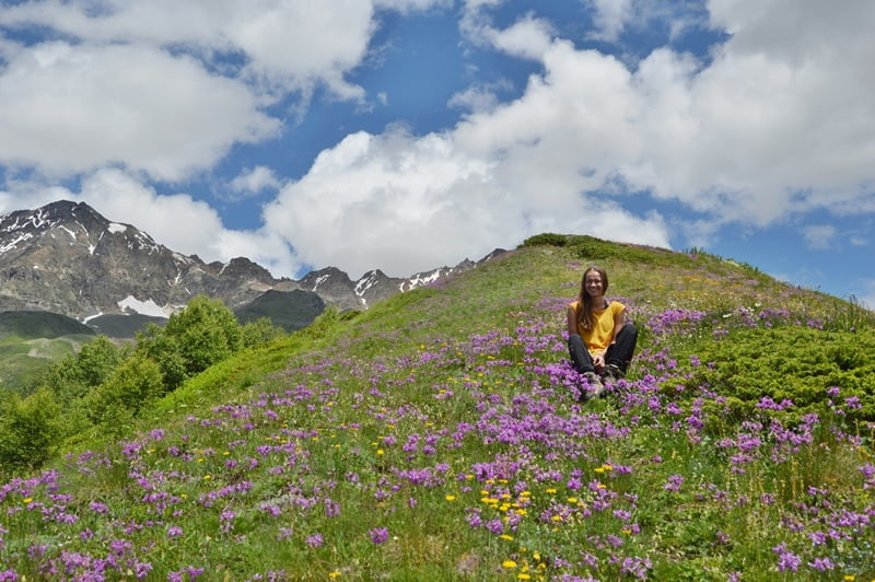 Хребет Чхути - цветы