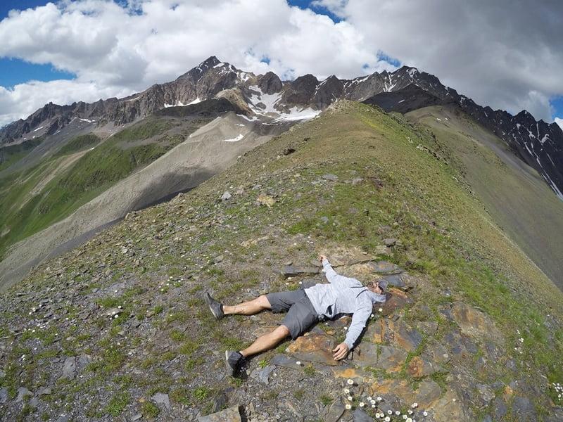 На вершине Чхутского хребта