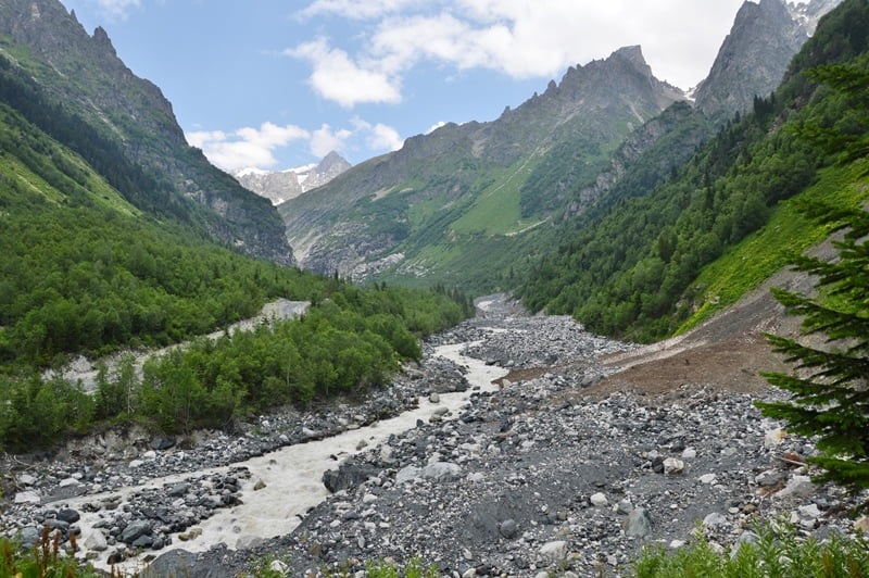 Долина реки в Сванетии