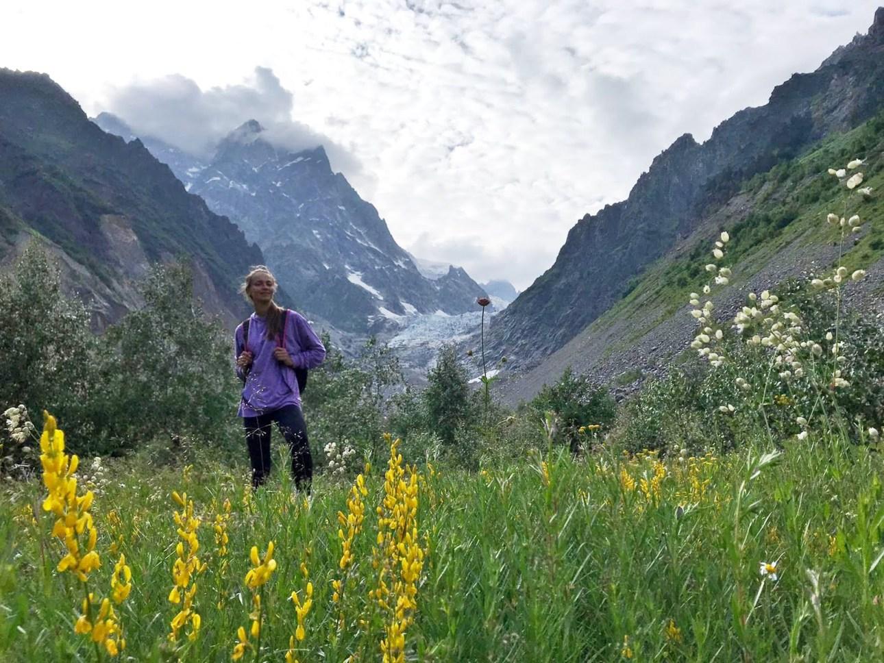 Долина перед ледником