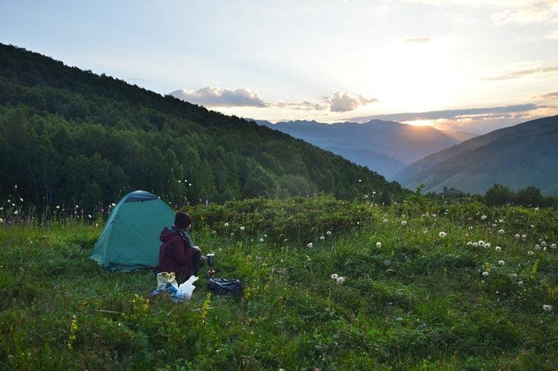 Поход в Сванетии с палаткой