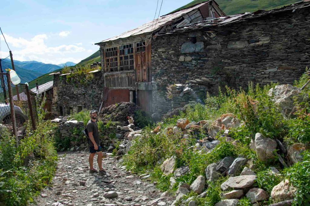 улица села в Грузии