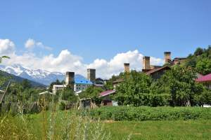 Сванские башни в Местиа