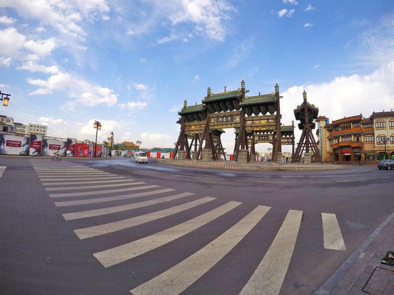 Центр города в провинции Шаньси
