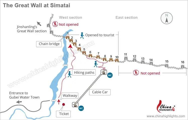 Великая китайская стена - схема
