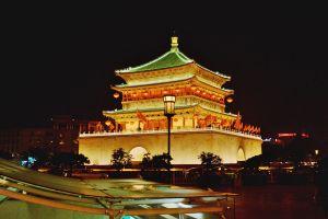 Ночной город в Китае
