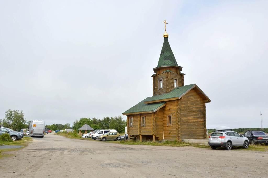 Деревянная часовня в Рабочеостровске
